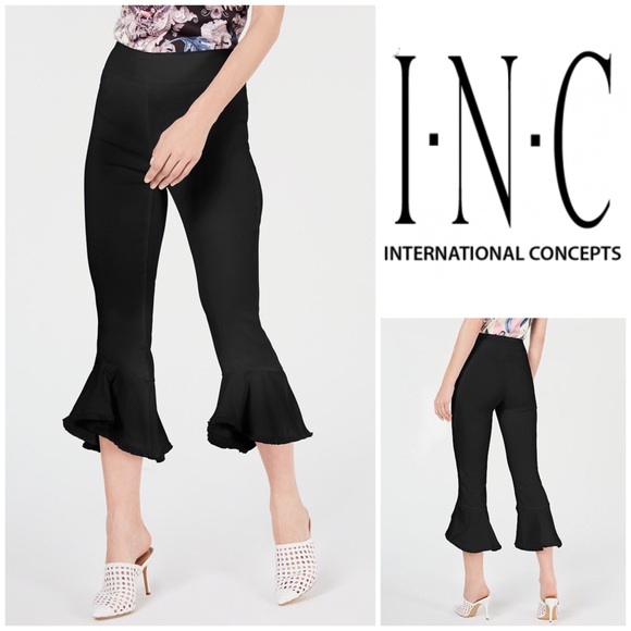 INC International Concepts White Regular Fit Flare Leg Cropped Capri Pants NWT Clothing, Shoes & Accessories Women's Clothing